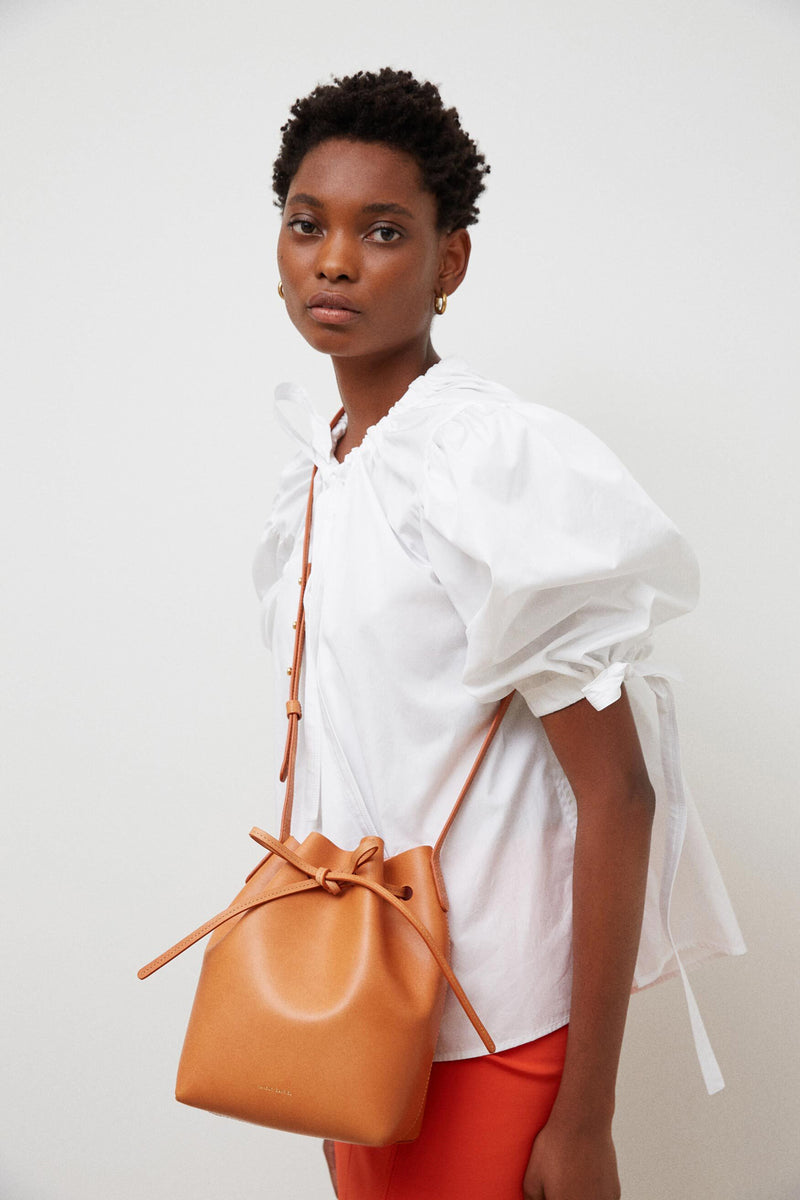 Mini Bucket Bag in Cammello