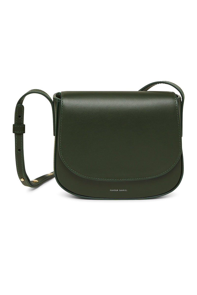 Moss Leather Small Crossbody with Magnetic Closure by Mansur Gavriel