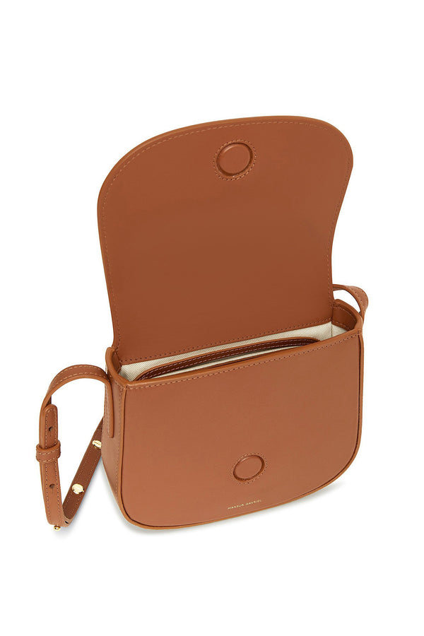 Saddle Leather Small Crossbody with Magnetic Closure by Mansur Gavriel