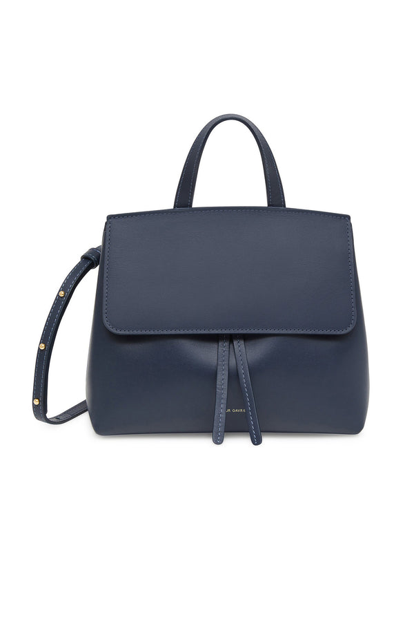 Blue Pink Calf Leather Shoulder/Clutch Bag by Mansur Gavriel