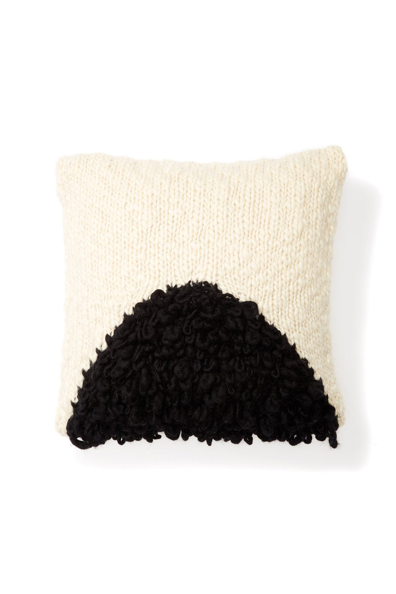 Moon Shag Pillow - Black | MINNA