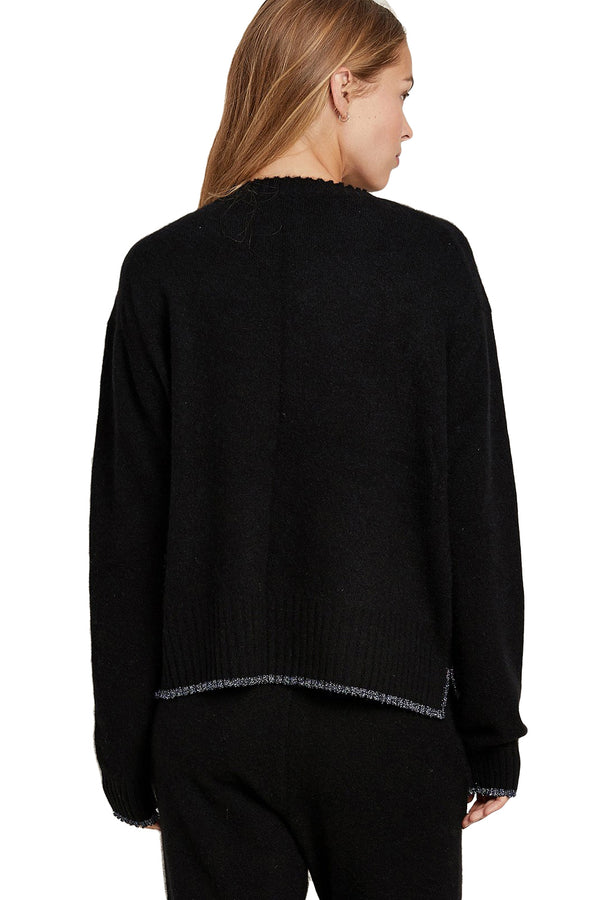 Black cashmere Charlee Sweater by Morgan Lane