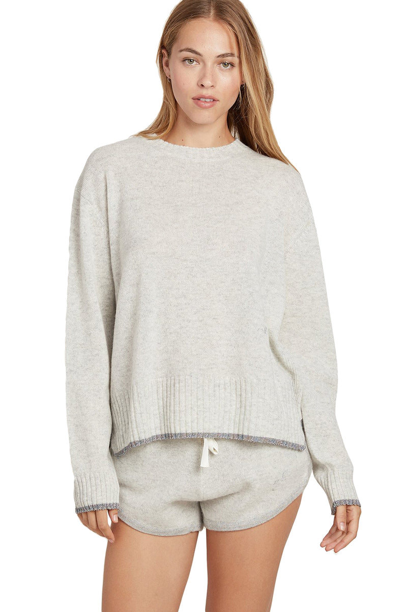 Gray Charlee cashmere Sweater by Morgan Lane