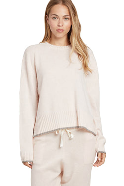 Cream cashmere Charlee Sweater by Morgan Lane