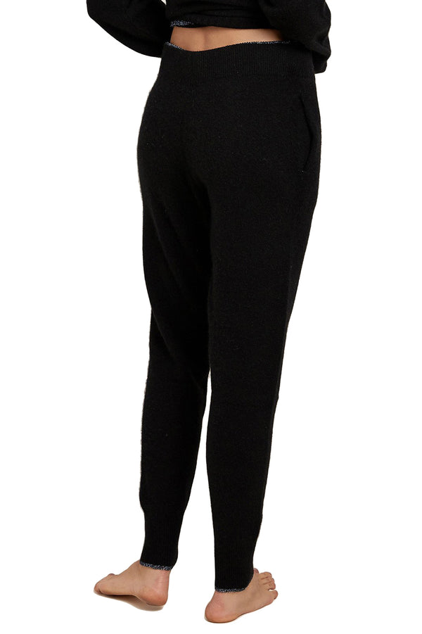 Black cashmere Hailey Pant by Morgan Lane