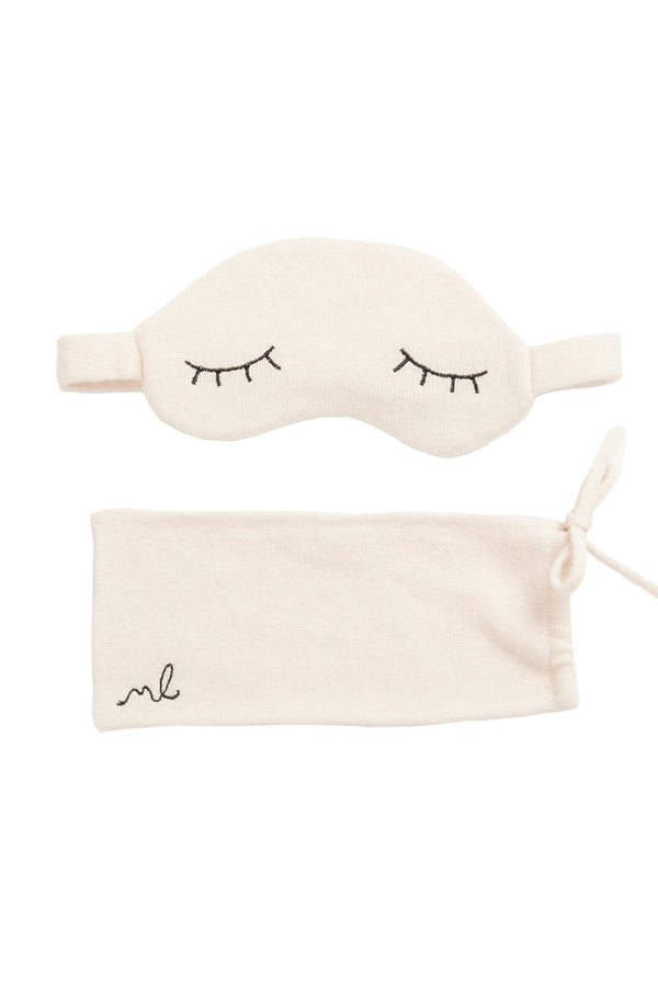Cream Sleepy Lids Cashmere Mask Set by Morgan Lane