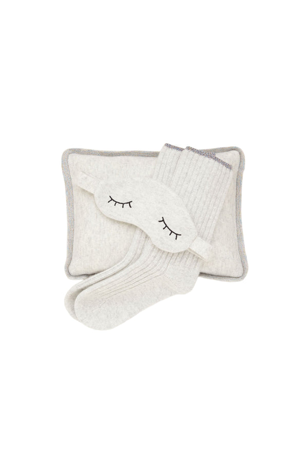 Pale Gray Sleepy Cashmere Gift Set by Morgan Lane