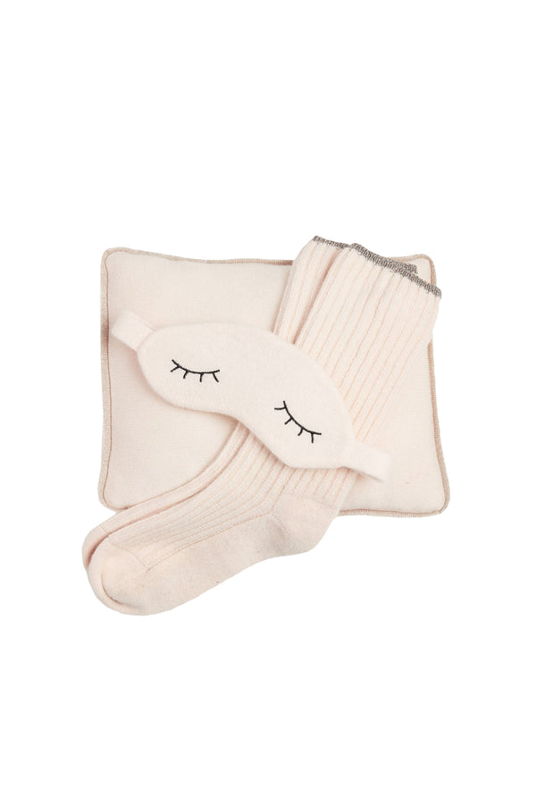 Sleepy Cashmere Gift Set in Vanilla cashmere by Morgan Lane