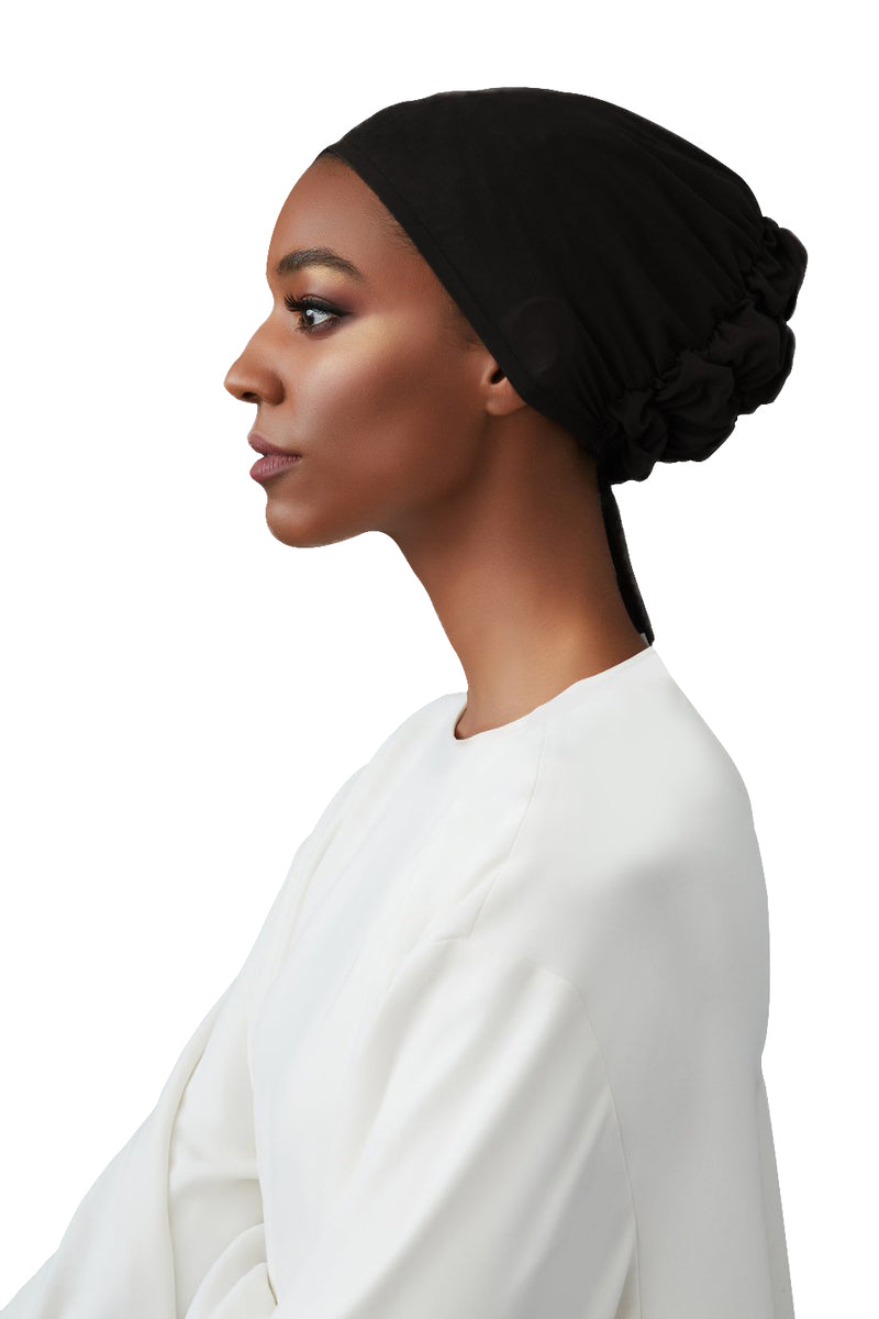 Black Barely There Underscarf by Haute Hijab
