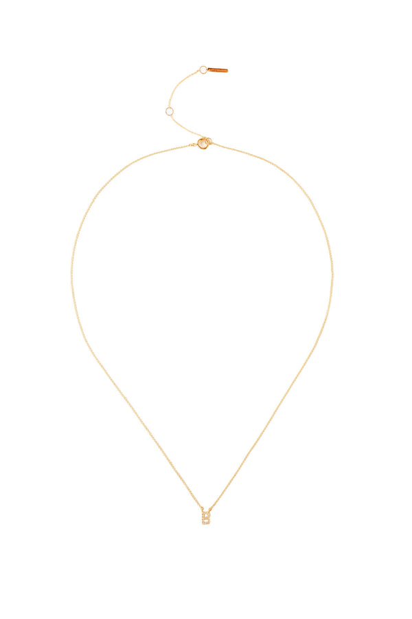 Gold plated Initial Necklace by Chan Luu