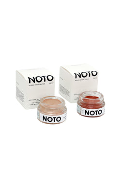 Color and Glow Duo: Ono Ono & Hydra pots of pigment and highlighter by NOTO botanics