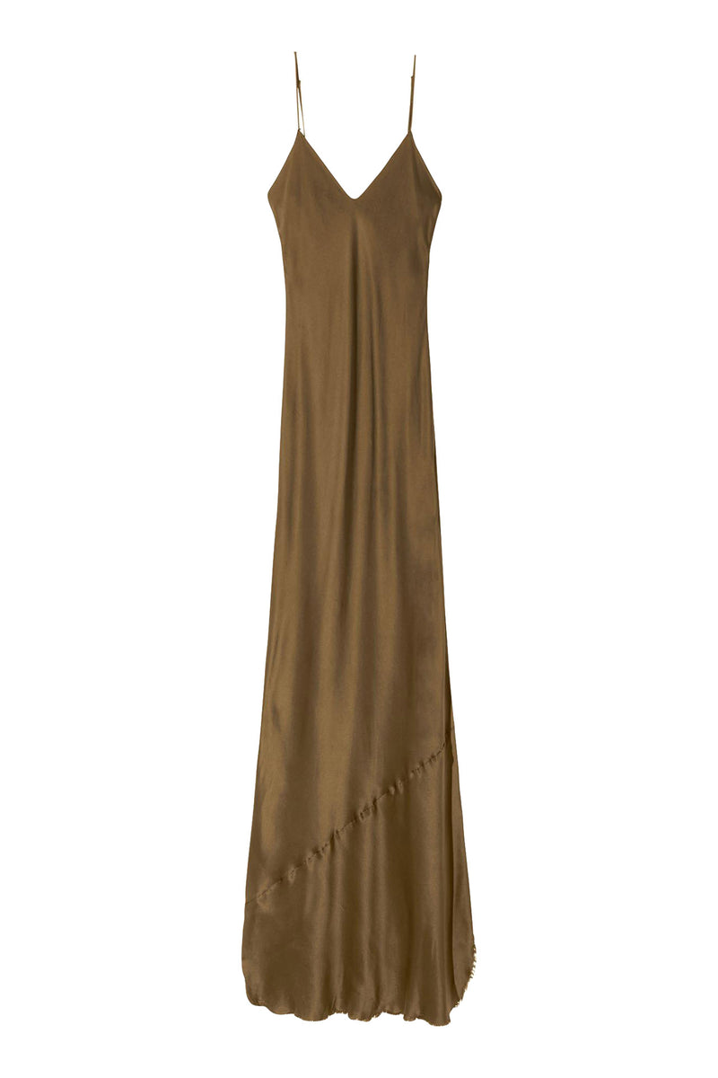 Cami Gown in Olive by Nili Lotan