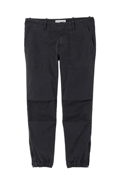 Cropper French Military Pant in Dark Navy by Nili Lotan