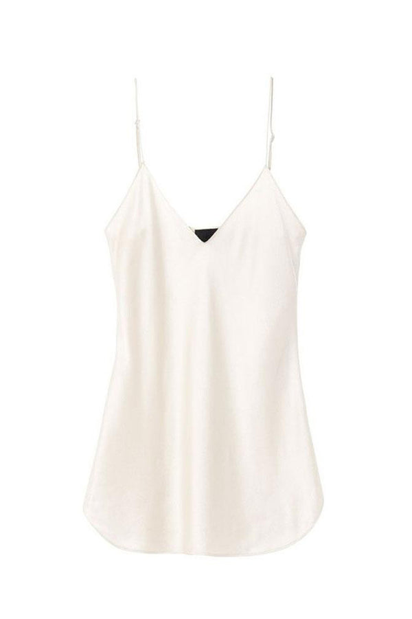 White silk cami top from Nili Lotan