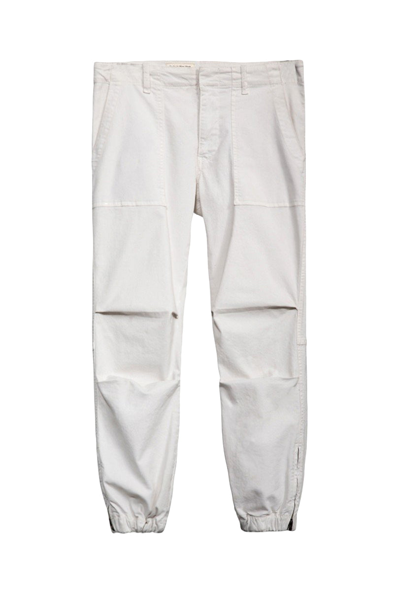 Cropped French Military Pant in Eggshell by Nili Lotan