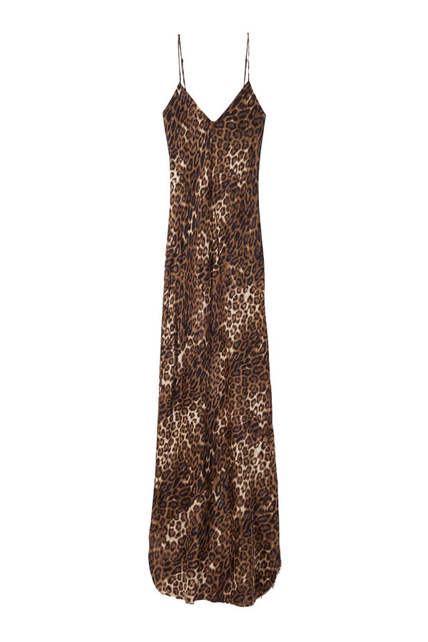 Cami Gown in Brown Leopard by Nili Lotan