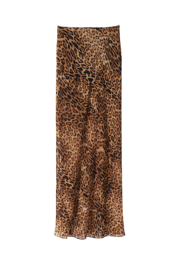Ella Skirt in Brown Leopard by Nili Lotan