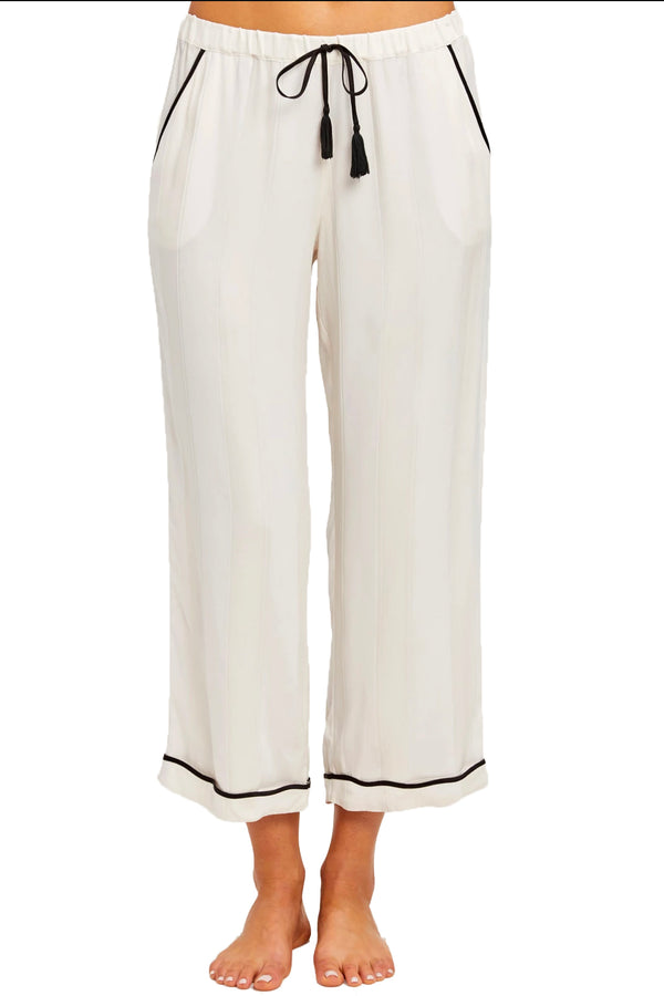 White silk pant from Morgan Lane