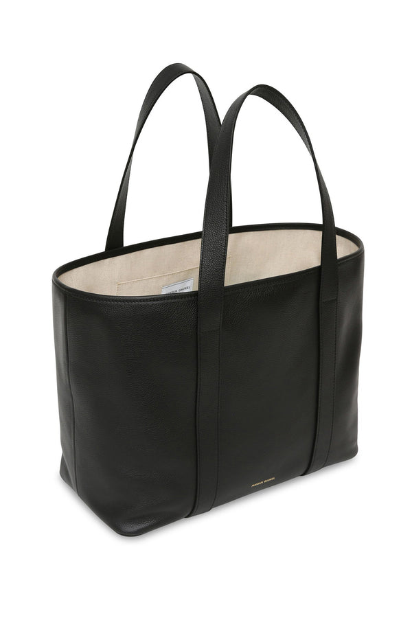 Black Medium Pebble Leather Tote by Mansur Gavriel