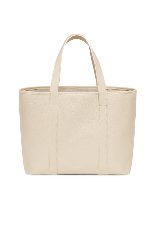Creme Medium Pebble Leather Tote by Mansur Gavriel