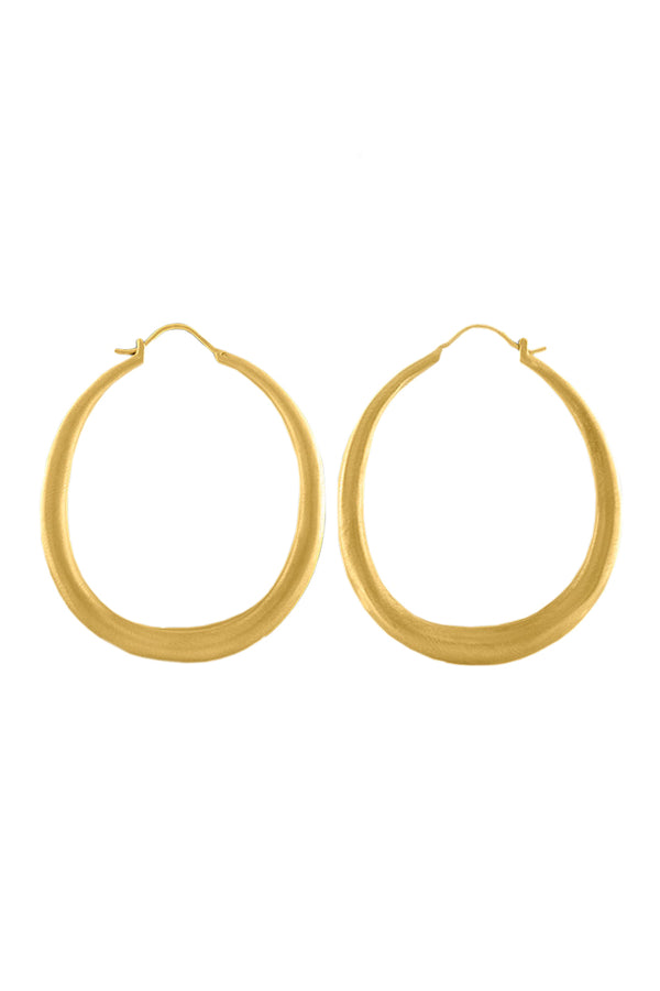 Duo gold Hoop Earrings by Prounis Jewelry
