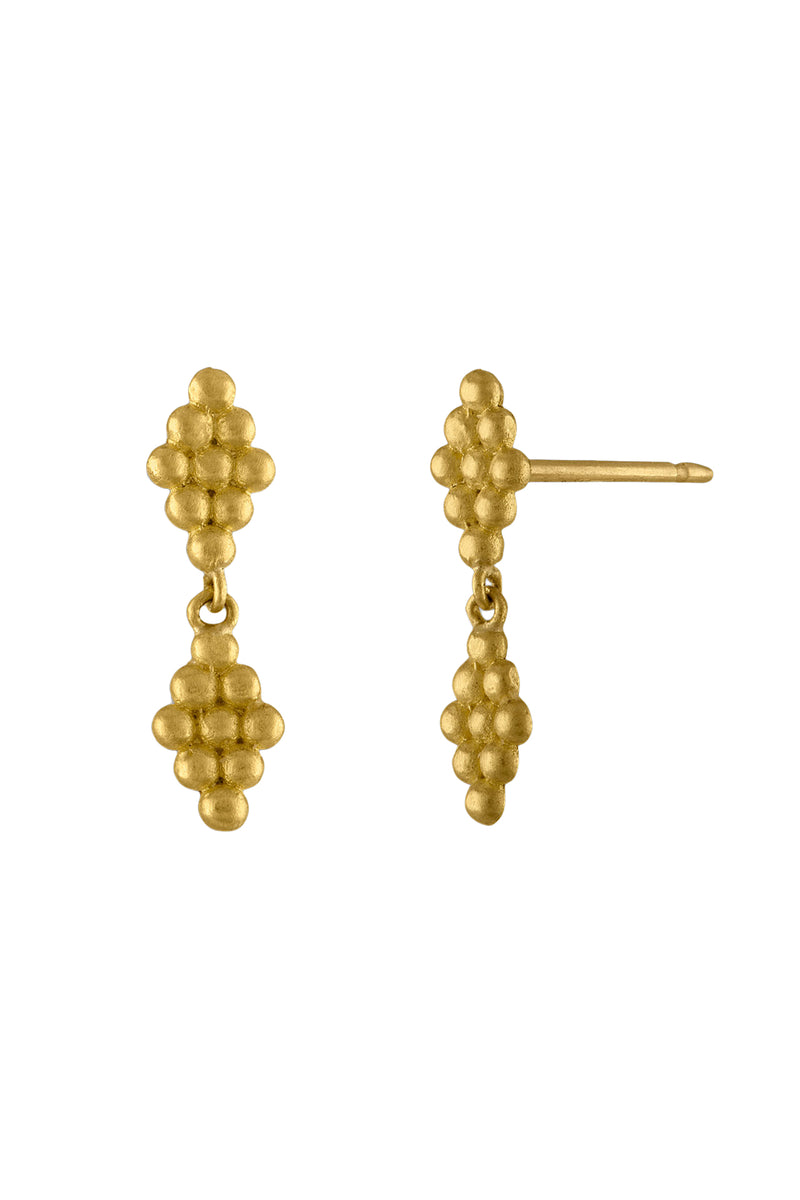 Duo Nona gold Earrings by Prounis Jewelry