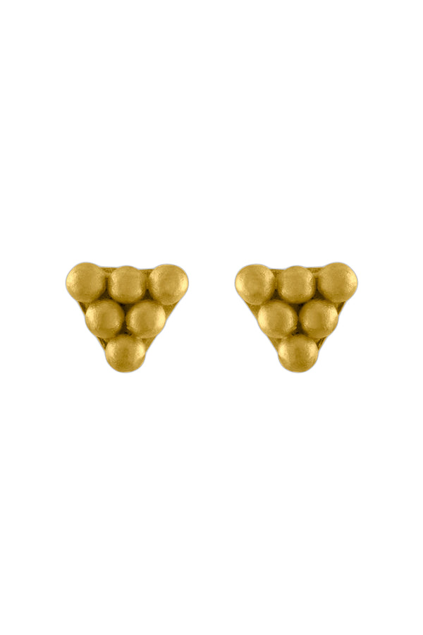 Hexa gold Stud Earrings by Prounis Jewelry