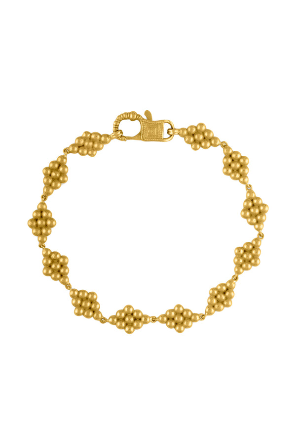 Nona gold Bracelet with Fibula Clasp by Prounis Jewelry