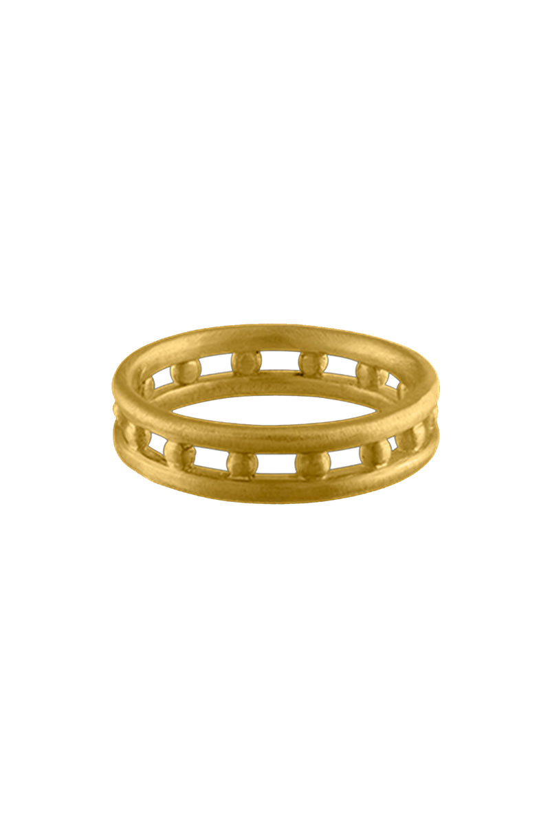 Seed Band gold ring by Prounis Jewelry