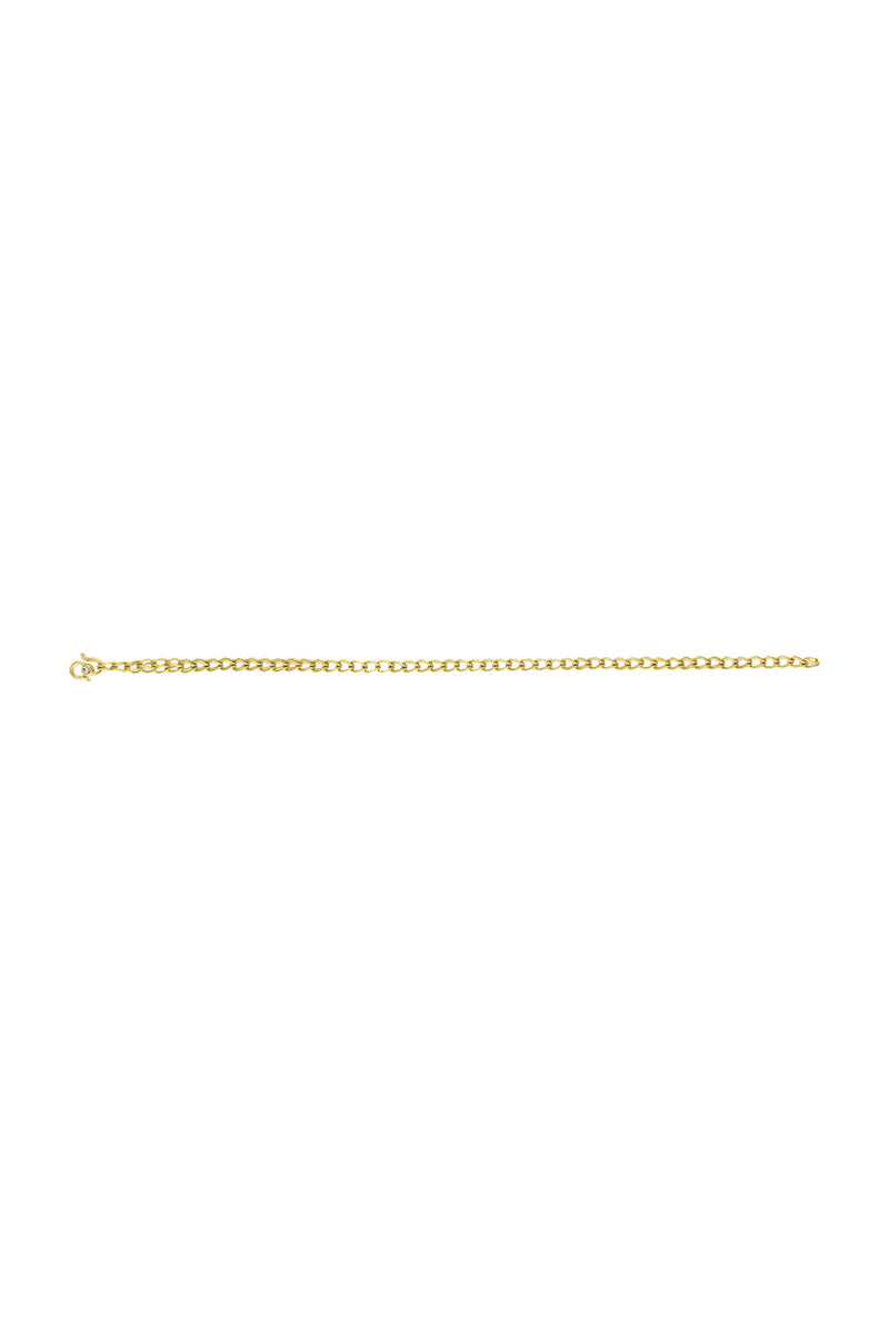 Solo Loop-in-Loop gold Chain Bracelet by Prounis Jewelry