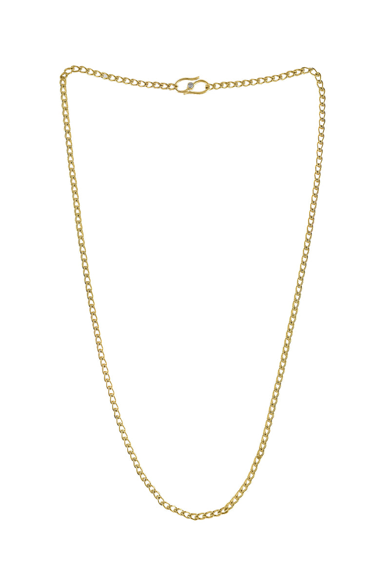 Solo Loop-in-Loop gold Chain by Prounis Jewelry