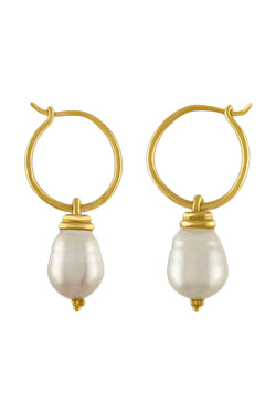 South Sea Pearl Hoop and Hook Earrings by Prounis Jewelry