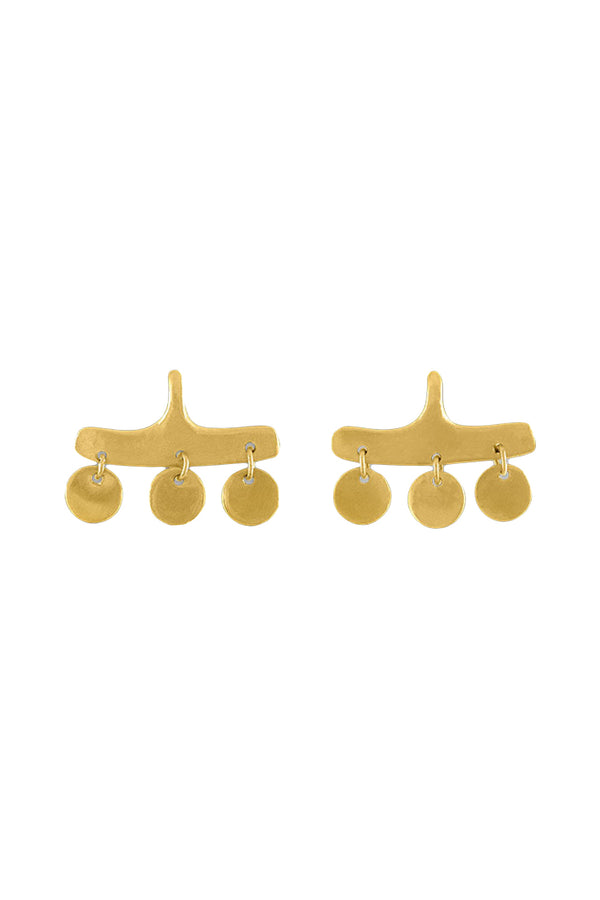 Syca three circle gold Earrings by Prounis Jewelry