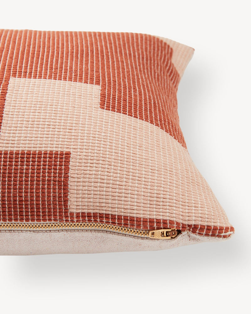 Puzzle Lumbar Pillow - Terracotta | MINNA