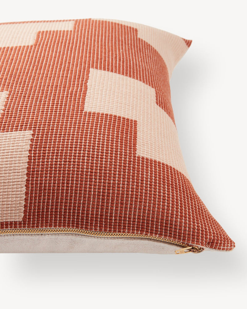 Puzzle Pillow - Terracotta | MINNA