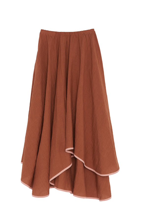 Zelda linen Skirt from Araks in Terracotta brown