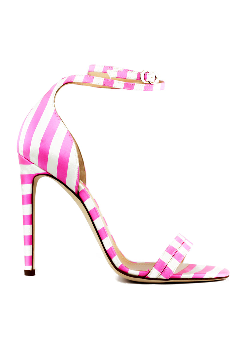 Pink and white Narcissus heel by Chloe Gosselin