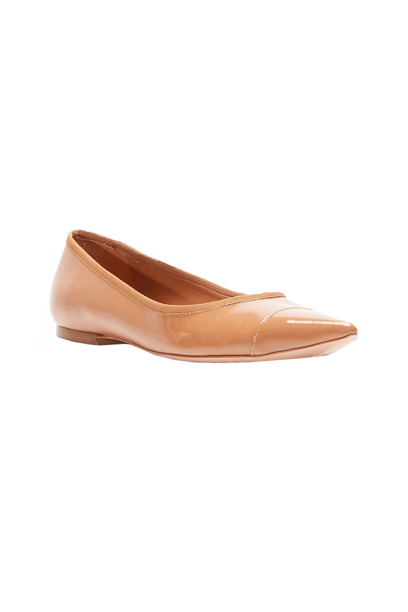 The Skim Nude III Pointed Toe Skimmer Flat by Rebecca Allen