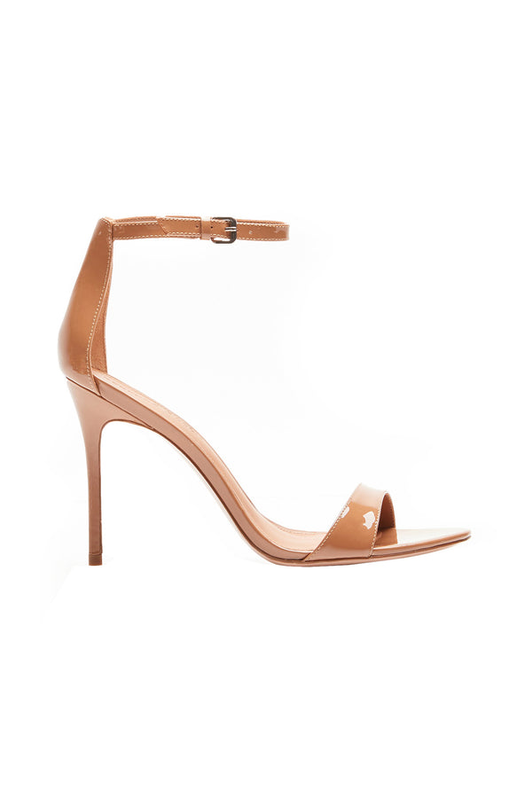 Two Strap Nude III Elevated Strappy Stiletto by Rebecca Allen