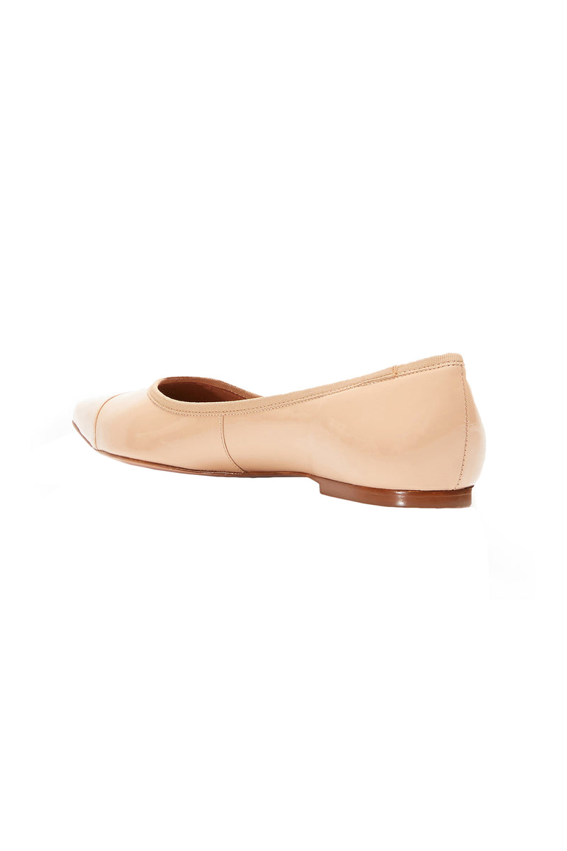 The Skim Nude IV Pointed Toe Skimmer Flat by Rebecca Allen