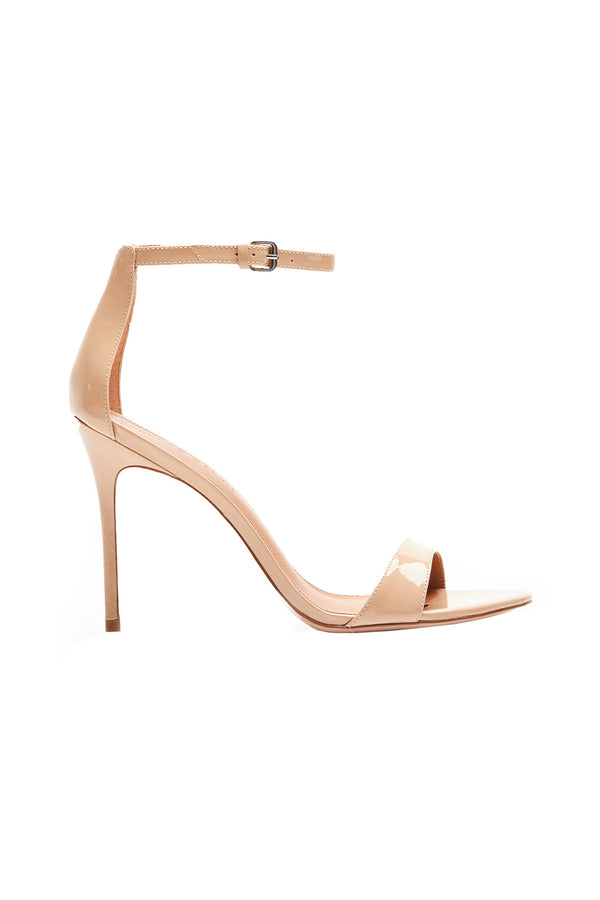 Two Strap Nude IV Elevated Strappy Stiletto by Rebecca Allen