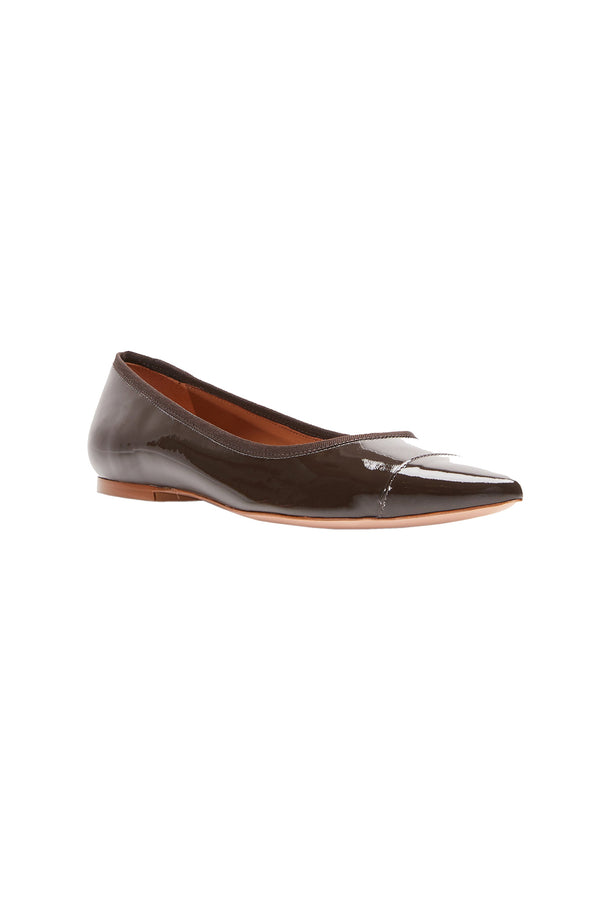 The Skim Nude I Pointed Toe Skimmer Flat by Rebecca Allen