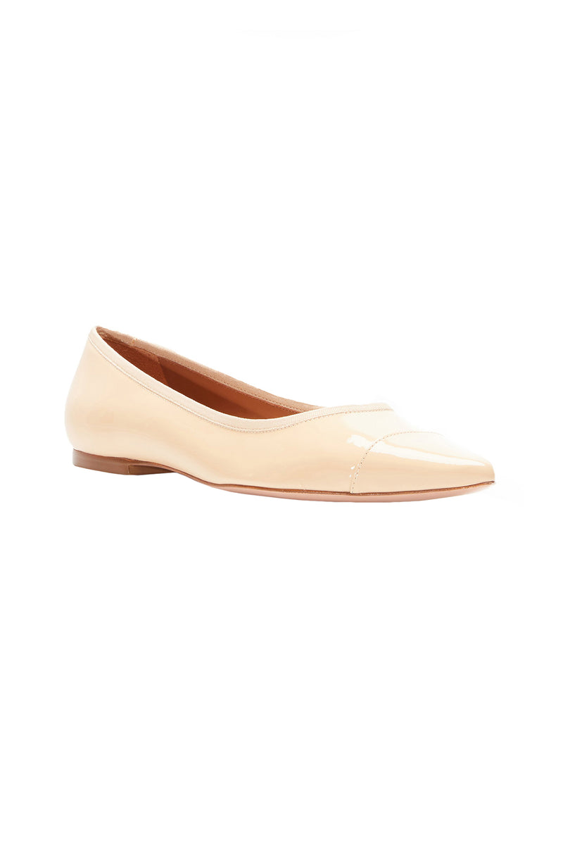 The Skim Nude V Pointed Toe Skimmer Flat by Rebecca Allen
