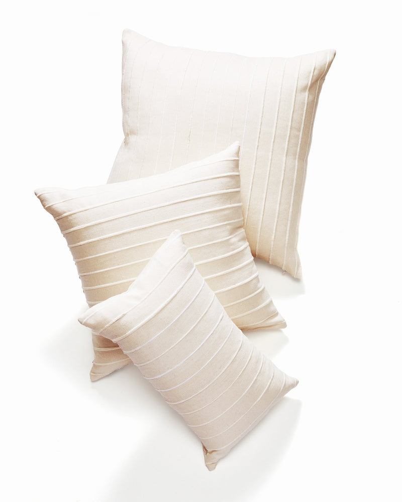 Recycled Stripe Pillow - Cream | MINNA