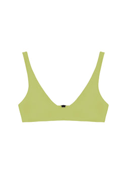 Laeti Chartreuse Scoop Neck Top by Rochelle Sara