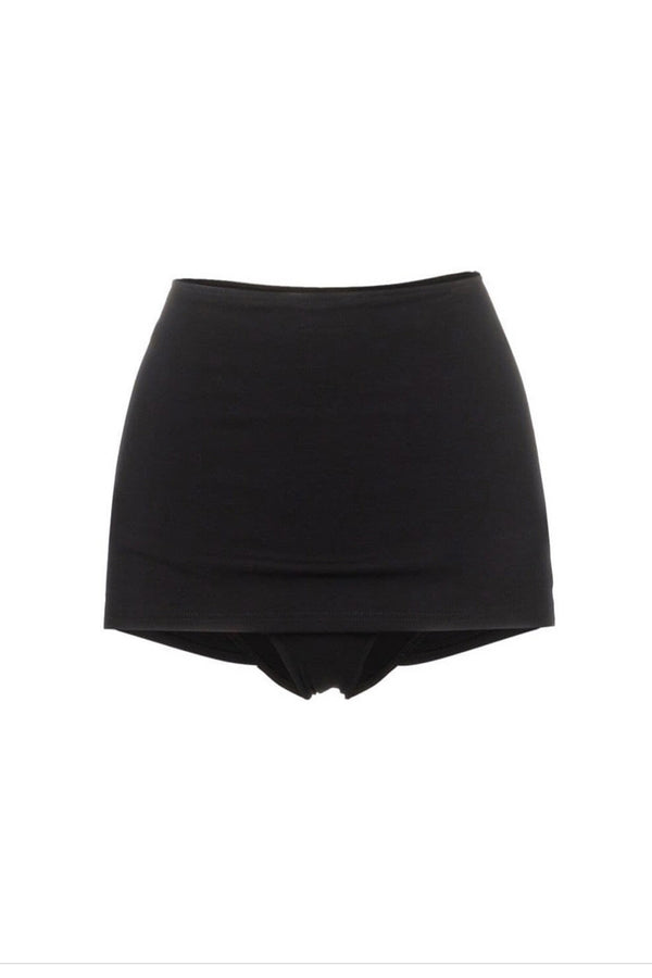 Noha Black High Waisted Skirted Bottom by Rochelle Sara