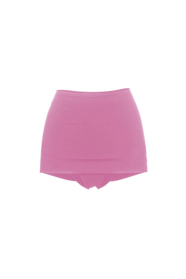 Noha Hot Pink High Waisted Skirted Bottom by Rochelle Sara