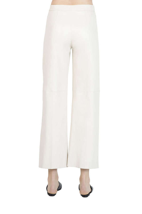 Pull-On Straight Trousers in Parchment by Rosetta Getty