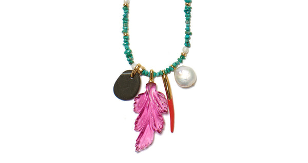 Neon Reef Charm Necklace by Lizzie Fortunato