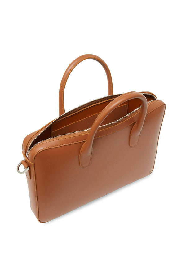 Saddle Leather Briefcase by Mansur Gavriel